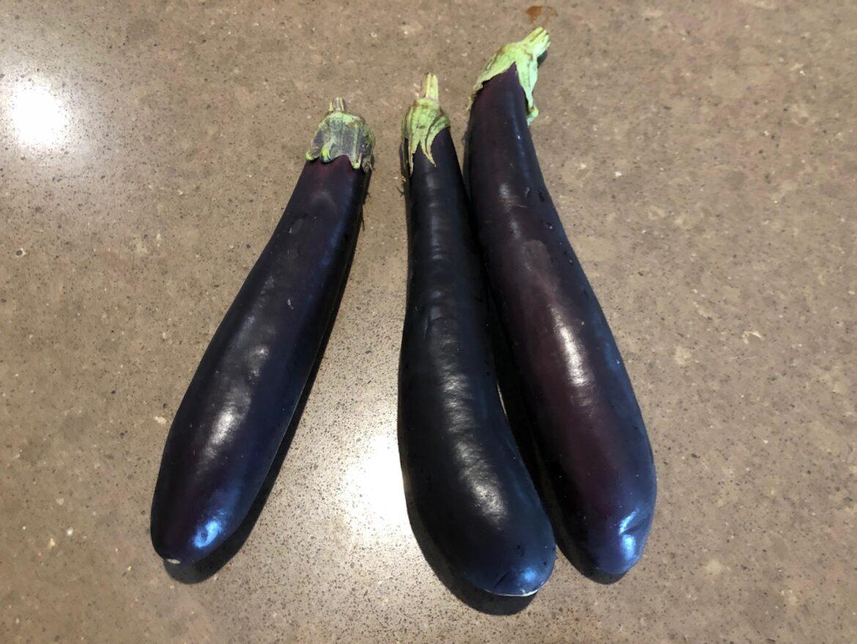 Eggplant dish 11: Lady finger roasted eggplant